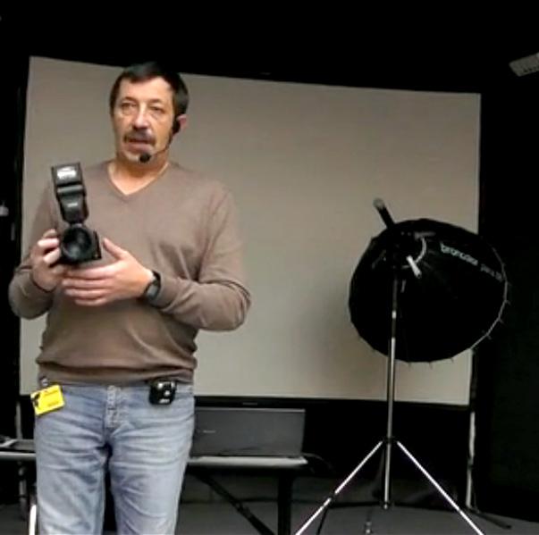 Использование системных камер Samsung NX в студийных условиях. <br>Мастер-класс Игоря Сахарова