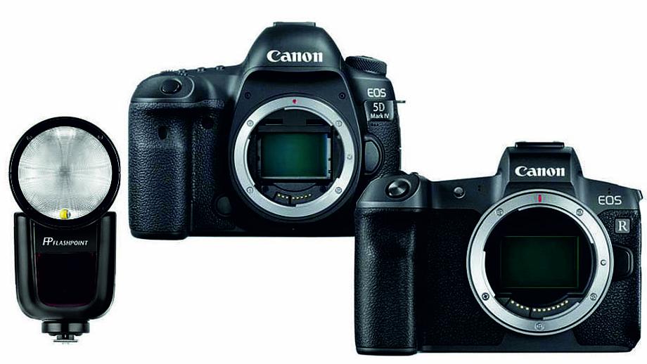 Canon 5D Mark IV или EOS R со скидкой 35% и вспышкой Godox V1 в подарок...