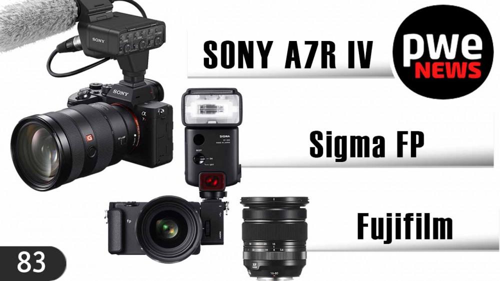 PWE News #83 | Sony A7R IV | Sigma FP | Падение фоторынка | Объективы Fujifilm