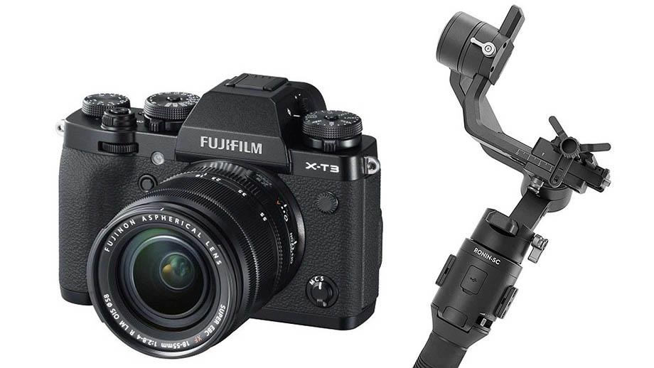 Новая прошивка DJI Ronin SC/S поддерживает камеры Fujifilm X-T3/X-T20