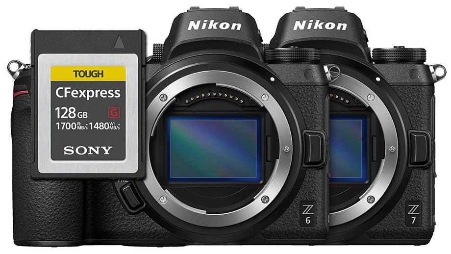 Прошивка 2.20 для Nikon Z6 и Z7 добавляет поддержку CFexpress