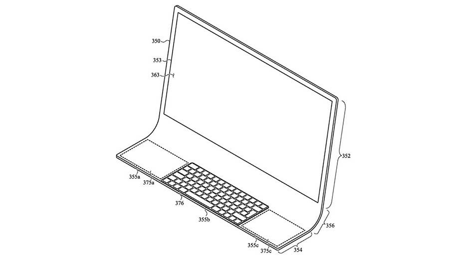 Apple патентует новый дизайн iMac из сгибаемого стекла