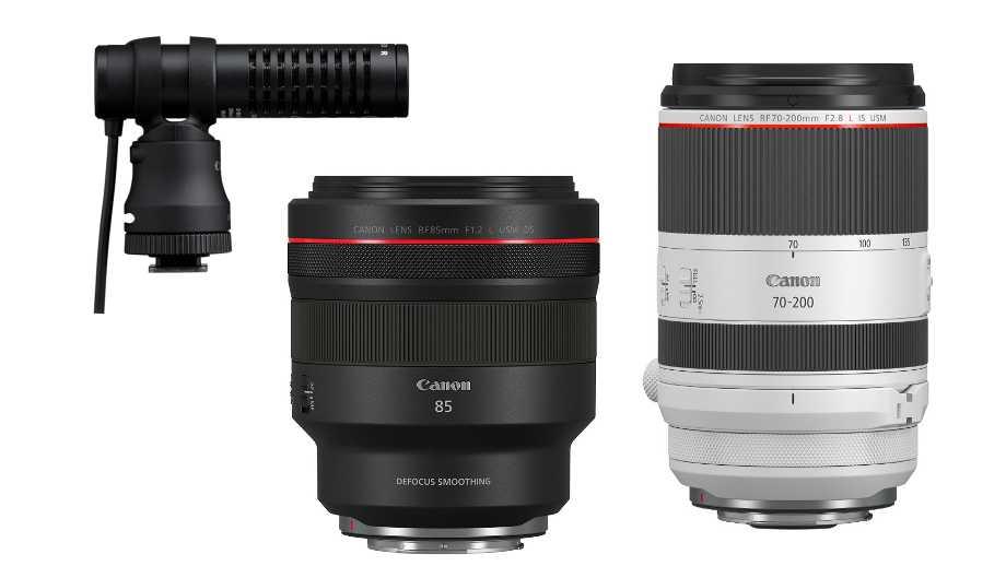 Слухи об объективах Canon RF 70-200mm f/2.8 L IS, RF 85mm f/1.2 L DS и микрофоне DM-E100