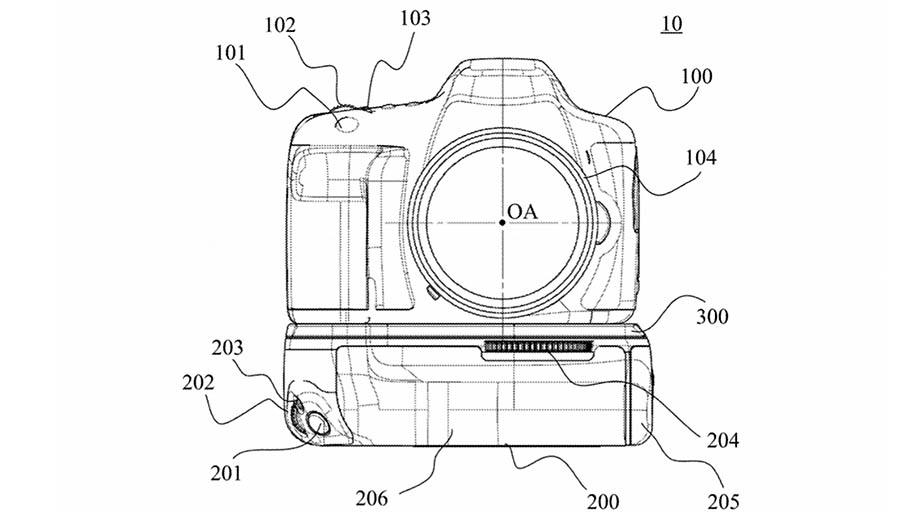 Canon патентует универсальную батарейную ручку