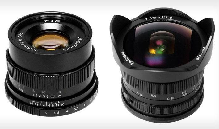 7Artisans представил 4 бюджетных объектива для беззеркальных камер