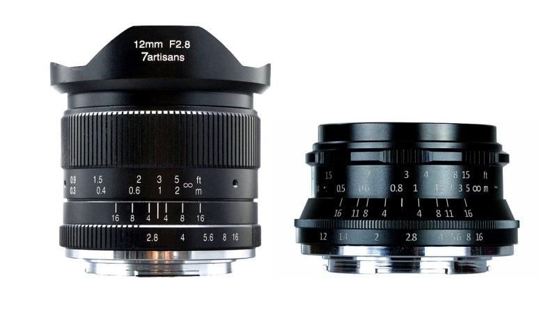 Компания 7Artisans представила объективы 12mm f/2.8 и 35mm f/1.2