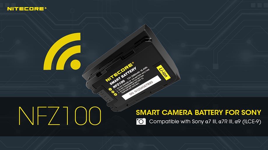Умная батарея Nitecore NFZ100 для камер Sony α управляется со смартфона по Bluetooth