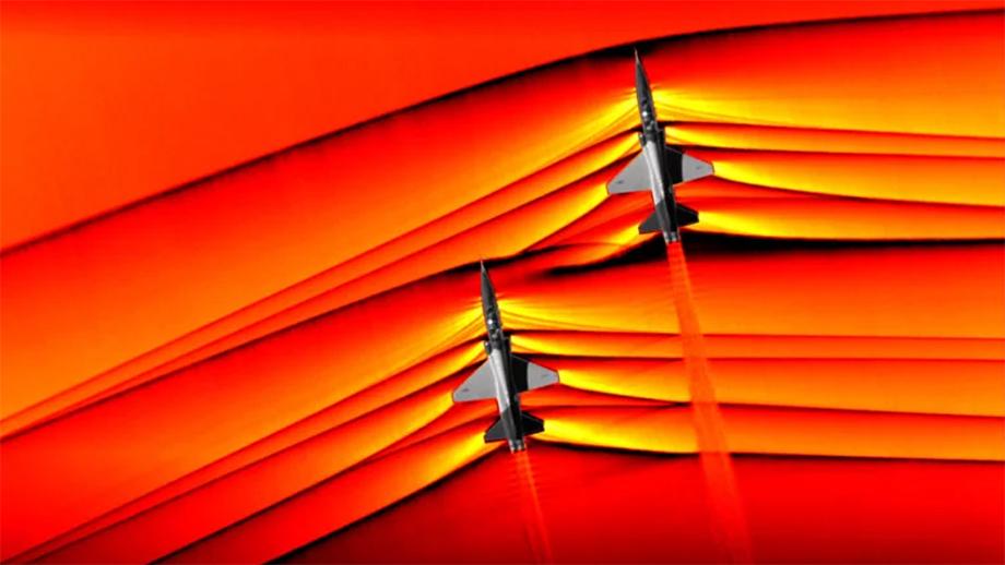 В NASA впервые визуализировали изображения  ударных волн от сверхзвуковых самолетов