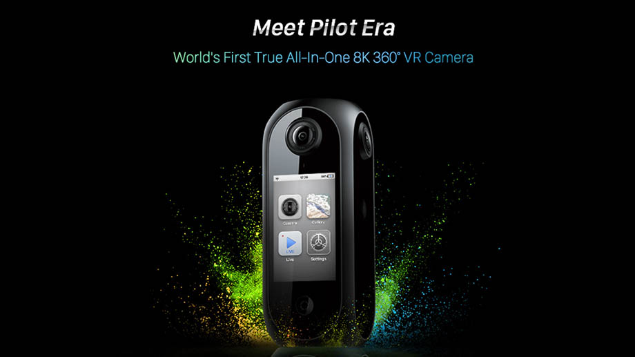 360° VR-камера Pilot Era: 8К, сенсорный экран, 512 Гб, 3,5 часа записи