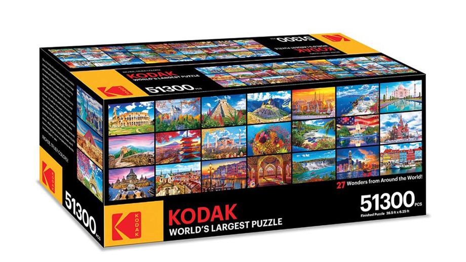 Kodak выпустил для своих фанатов гигантские  фотопазлы