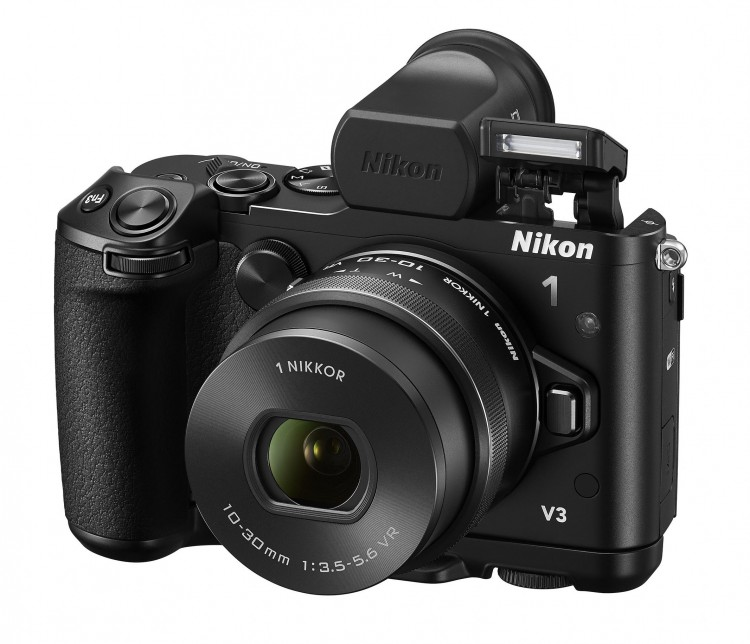 Nikon представил Nikon-1 V3 и объективы 10-30 и 70-300