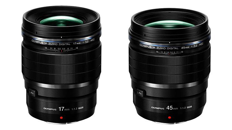 Компания Olympus представила объективы M. Zuiko Pro 17/1.2 и 45/1.2