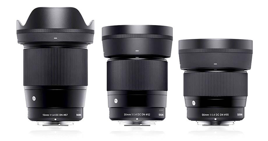 Sigma 16mm F1.4, 30mm F1.4 и 56mm F1.4 для Canon EOS M