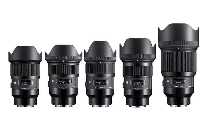 Sigma начинает продажи пяти своих Art Prime объективов под байонет Sony E