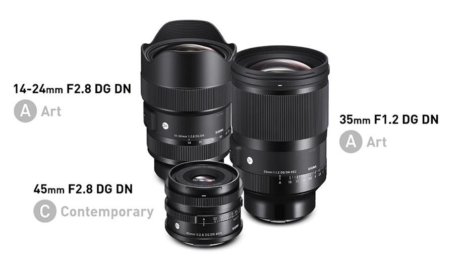 Sigma анонсировала 3 объектива под Sony E: 35mm F1.2, 45mm F2.8 и 14–24mm F2.8