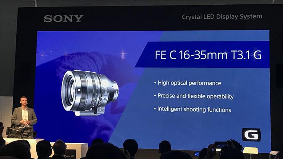 Sony анонсировала профессиональный объектив 16-35mm T3.1 E