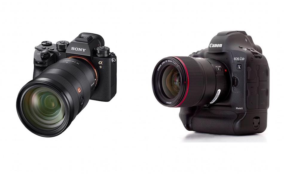 Сравнение параметров Sony A9 и Canon 1D X Mark II