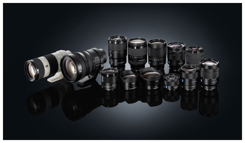 Sony представила 4 объектива для байонета FE
