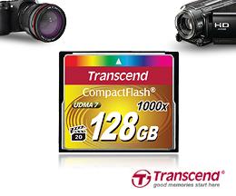 Карты Transcend 1000x CF для профессиональной фото и киносъемки
