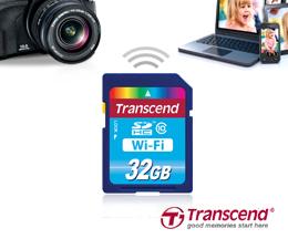 Новация Transcend - Wi-Fi карта памяти