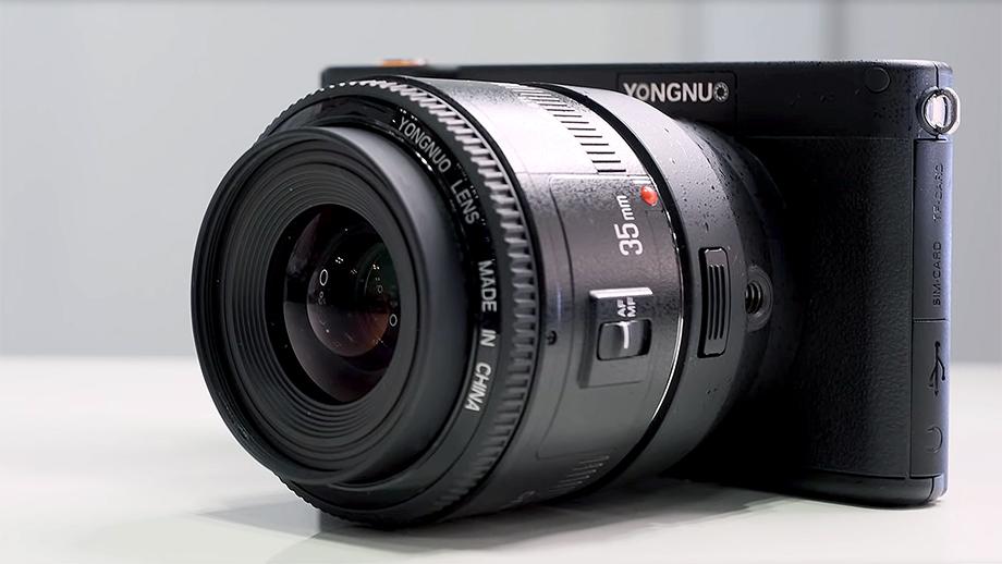 Беззеркальная Yongnuo YN450: датчик MFT + байонет Canon EF + Android