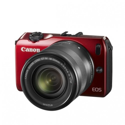 Canon EOS M RED c объективом EF-M 18-55mm IS STM