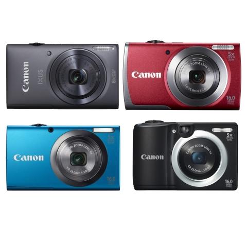 Canon представляет новые модели IXUS 140 и PowerShot A3500 IS, A2600, A1400