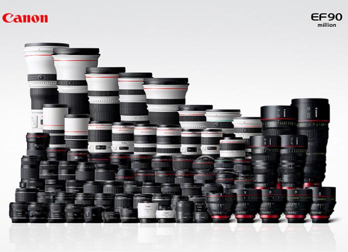 Компания Canon выпустила 90-миллионный объектив EF-серии