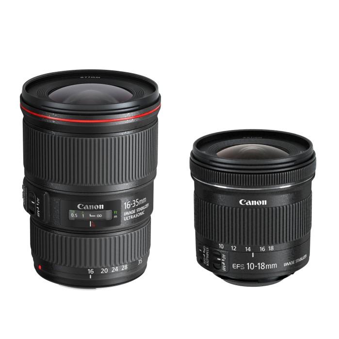 Компания Canon представила два новых широкоугольных зум-объектива: Canon EF 16–35mm f/4L IS USM и Canon EF-S 10–18mm f/4.5–5.6 IS STM
