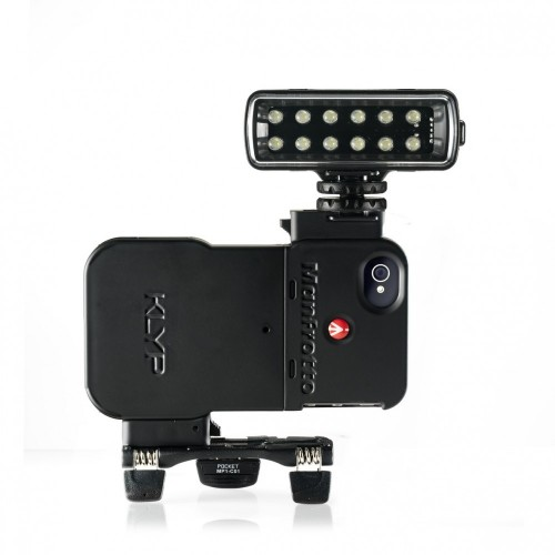 MKPL120KLYP0. KLYP iPhone™ 4/4S Case with ML120 POCKET LED light  and POCKET tripod