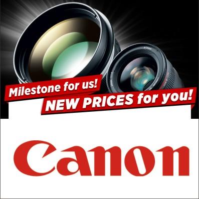 Canon начинает снижение цен на объективы L-серии