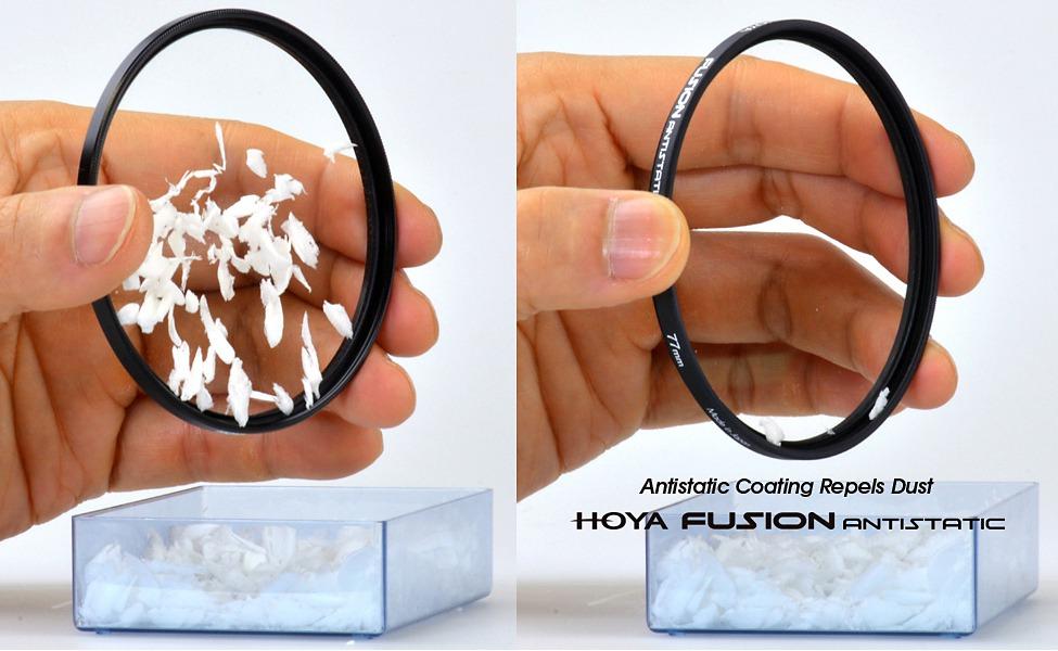 Hoya представила новую линейку светофильтров с антистатическим покрытием