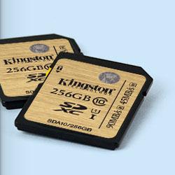 Kingston выпустил новую серию высокоскоростных карт