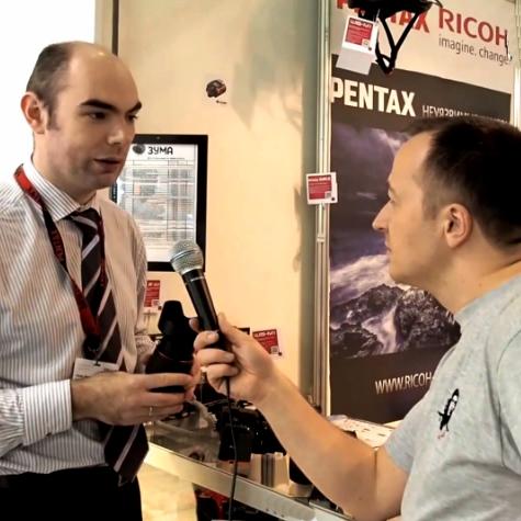 Интервью на стенде Pentax Ricoh. Фотофорум-2015