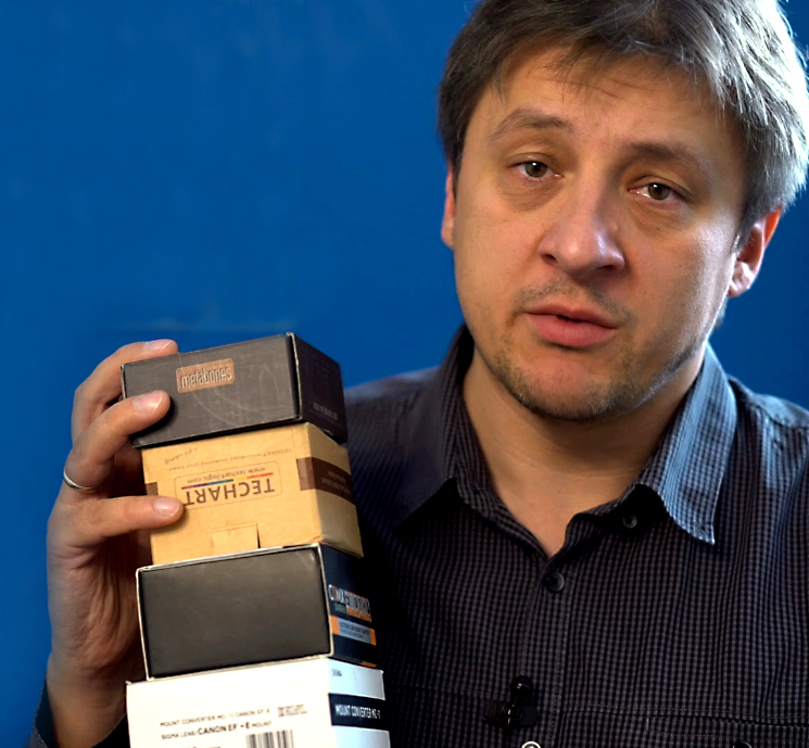 Переходники для оптики на камерах Sony. Тест