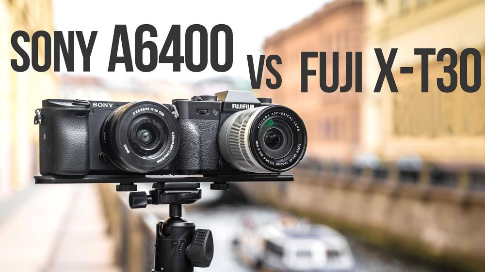 Sony a6400 vs Fujifilm X-T30. Видеотест-сравнение