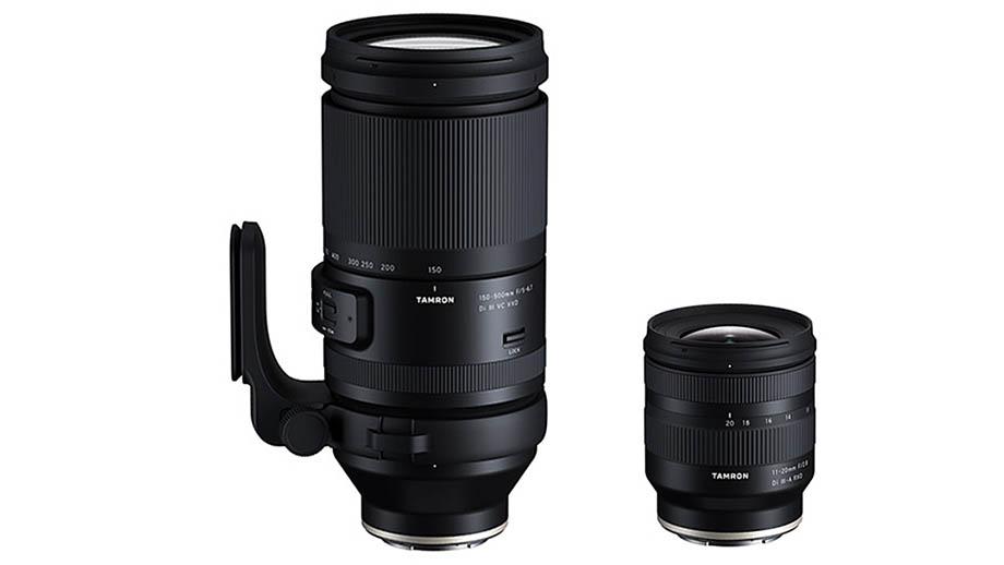 Два зума от Tamron: 11-20mm F2.8 и 150-500mm F5–6.7 для Sony E