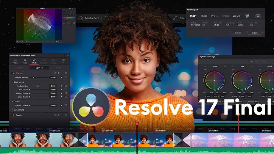 DaVinci Resolve 17, финальная версия