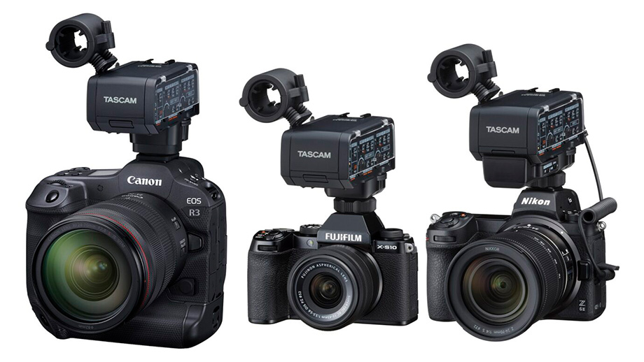 Разработка XLR-адаптера TASCAM CA-XLR2d для Canon, Fujifilm и Nikon