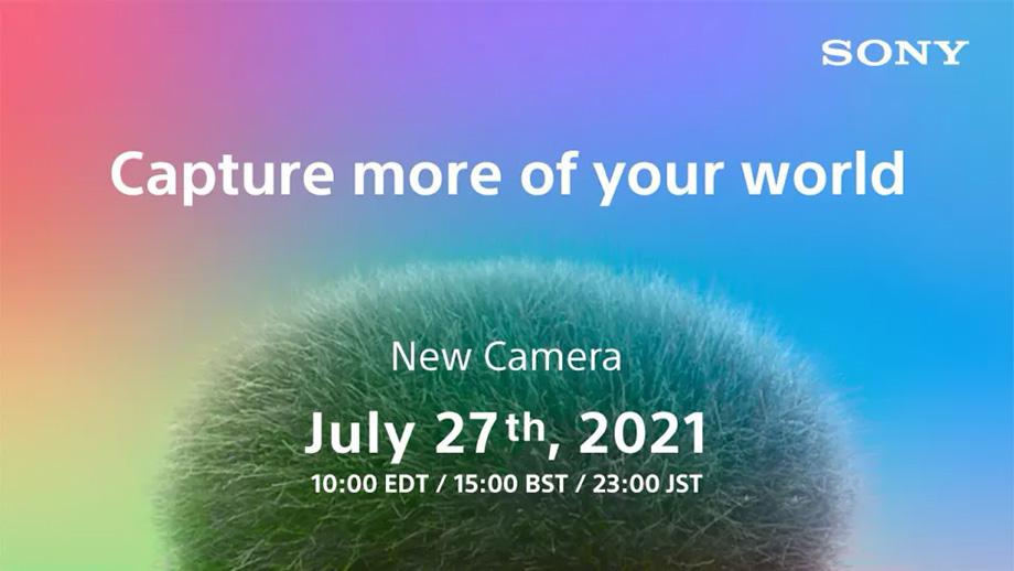 Sony анонсирует новую камеру во вторник, 27 июля 2021 г.