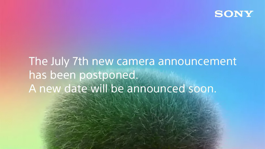 Sony отложила анонс новой камеры