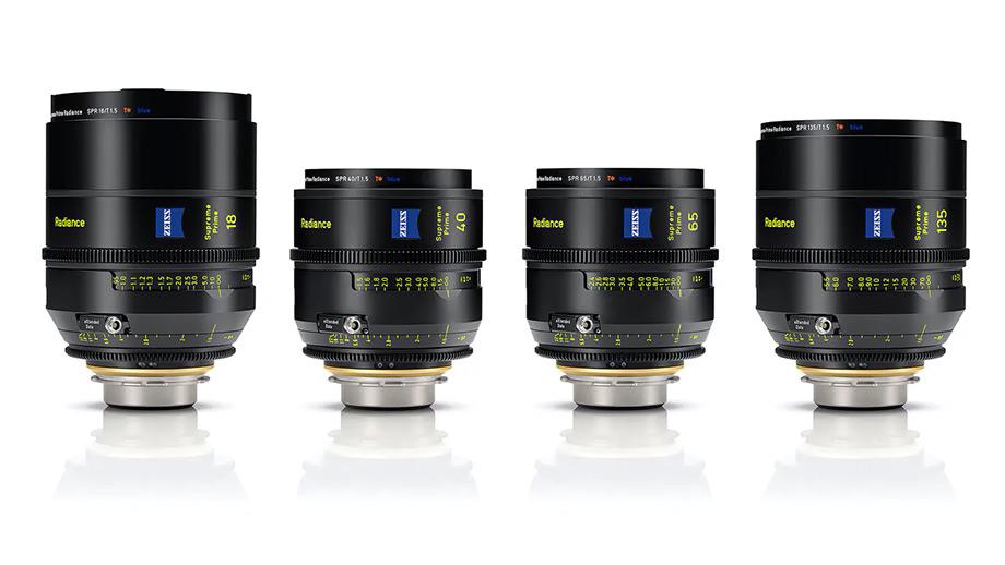 Киношные объективы ZEISS Supreme Prime Radiance 18/40/65/135mm T/1.5