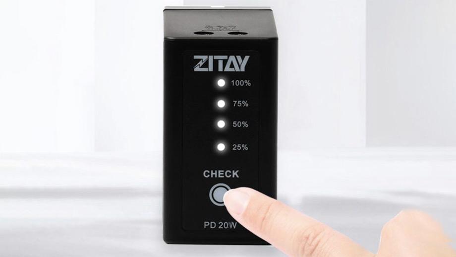Аккумулятор ZITAY Sony NP с двумя портами DC и портом USB-C
