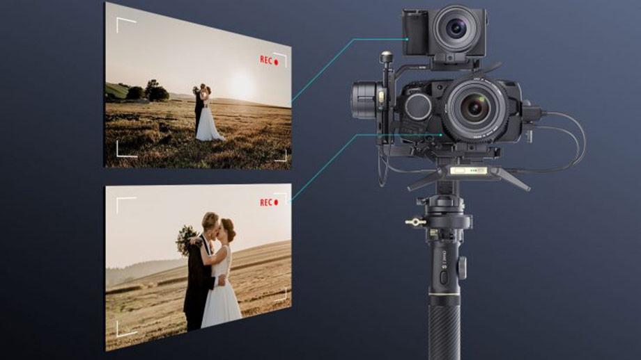 Комплект Zhiyun Crane 2S Pro – снимаем сразу двумя камерами