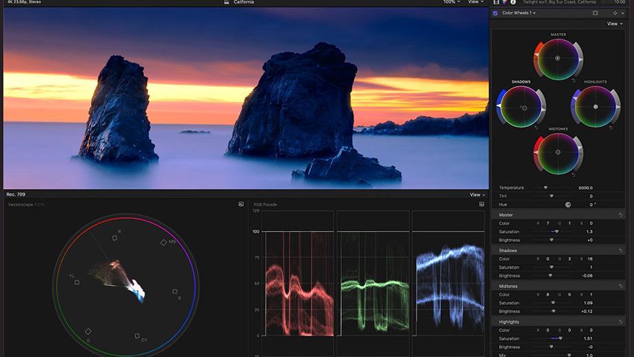 Программа Final Cut Pro X обновлена до 10.4.9 – обработка ProRes RAW и работа с вертикальным видео