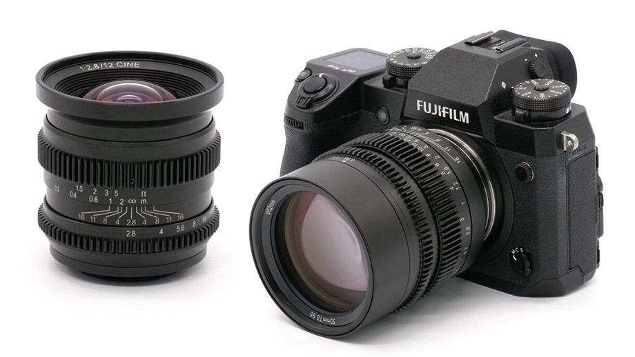 Киношные объективы CINE 12mm T2.8 и HyperPrime CINE 50mm T0.95 от SLR Magic