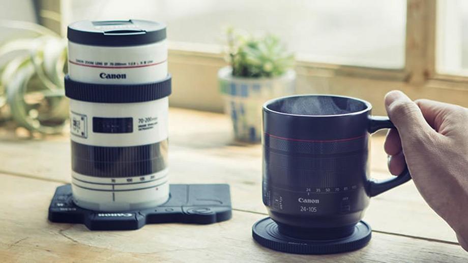 Кружки для напитков в виде объективов Canon