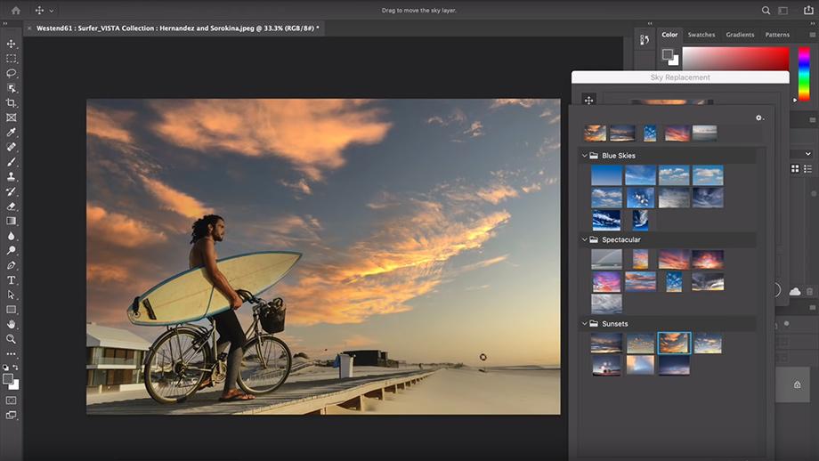 Adobe анонсировала инструмент замены неба в Photoshop