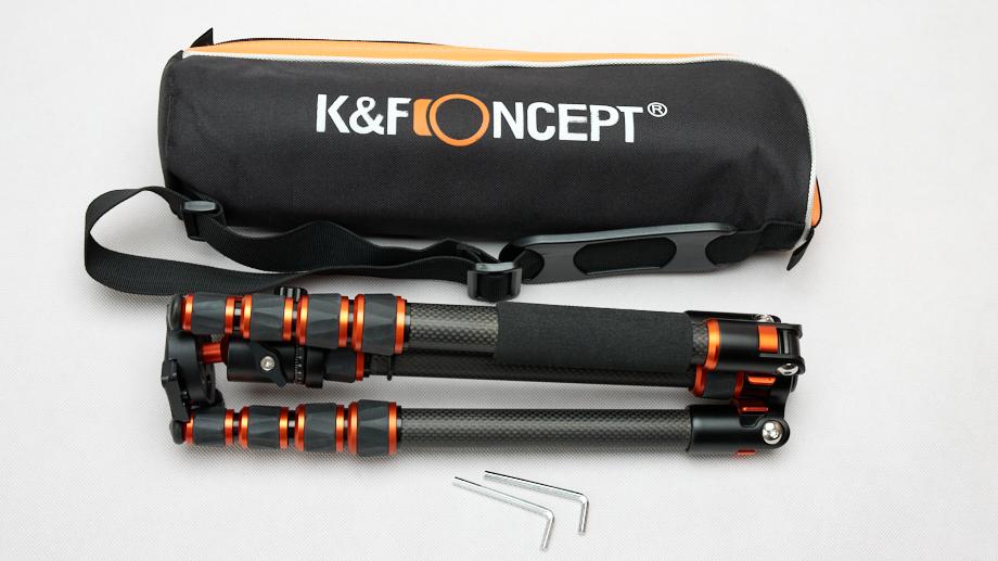Лёгкий карбоновый бюджетный тревел-штатив K&F Concept BA225