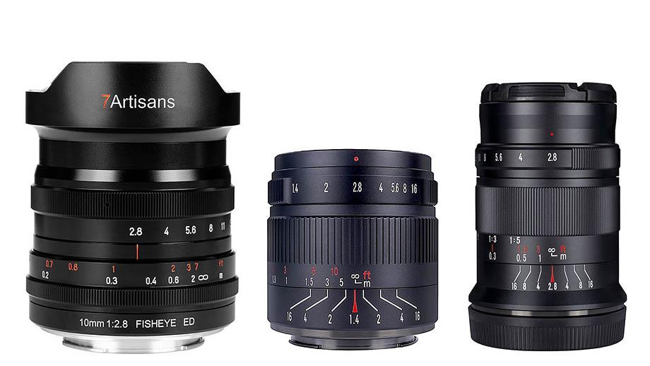 7artisans представила три объектива: 10mm f/2.8, 55mm f/1.4 II и 60mm f/2.8 II